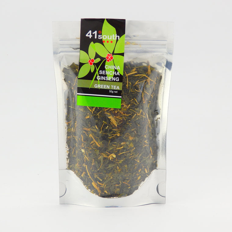 41 South Tasmania Sencha Green Tea with Tasmanian Ginseng - Tasmanian Gourmet Online