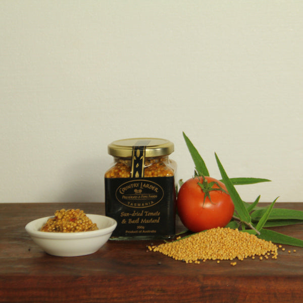 Country Larder Preserves Sundried Tomato and Basil Mustard - Tasmanian Gourmet Online