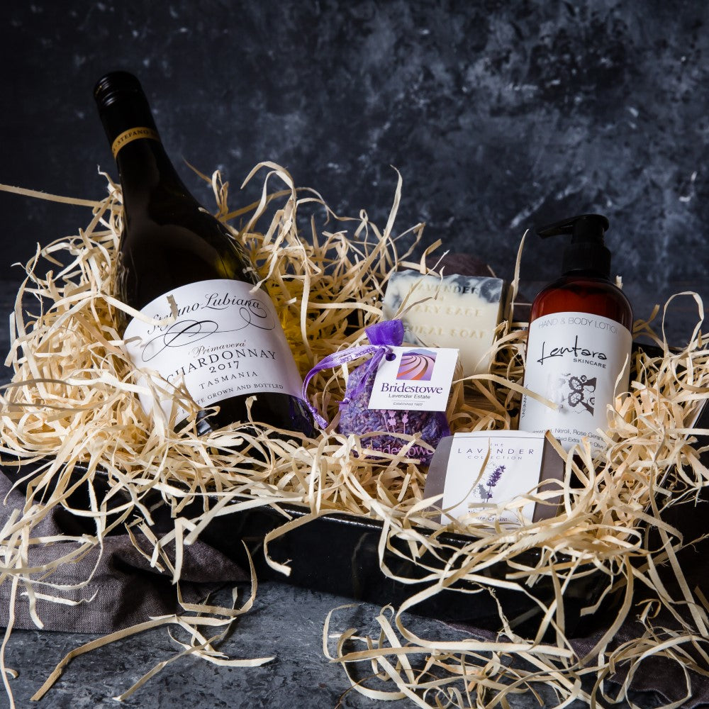 Vegan Pamper Hamper with Vegan Wine