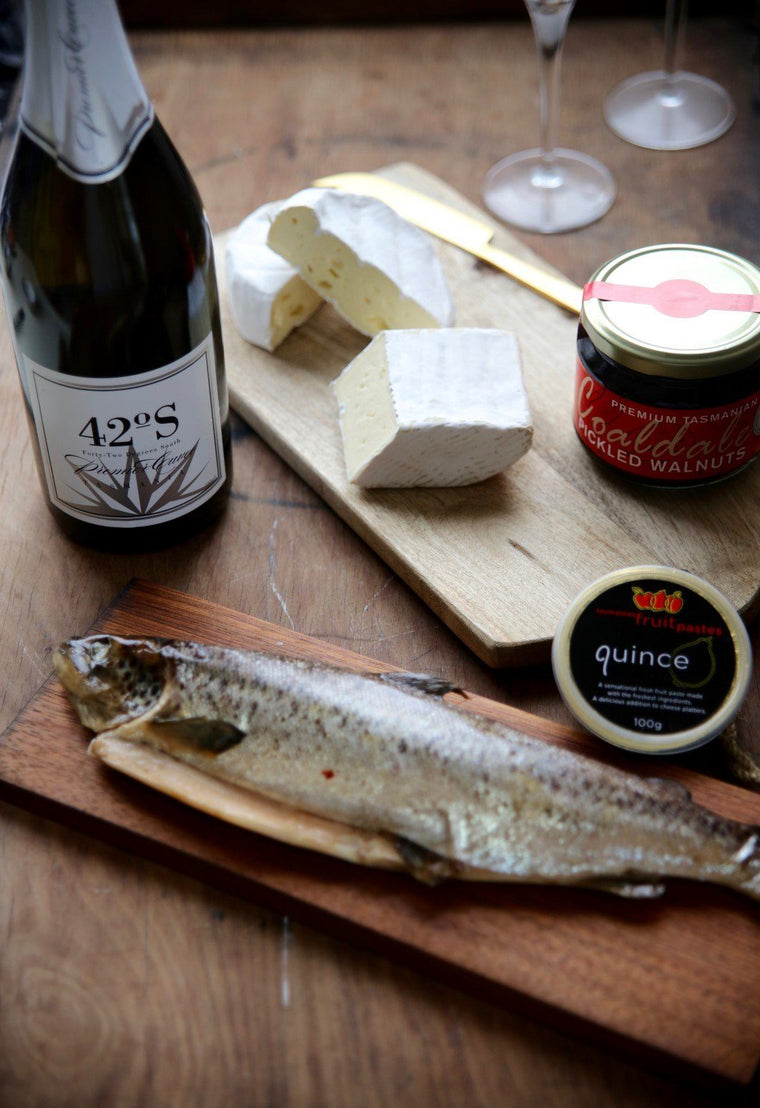 Whole Baby Salmon, Cheese, Wine and Condiments - Tasmanian Gourmet Online