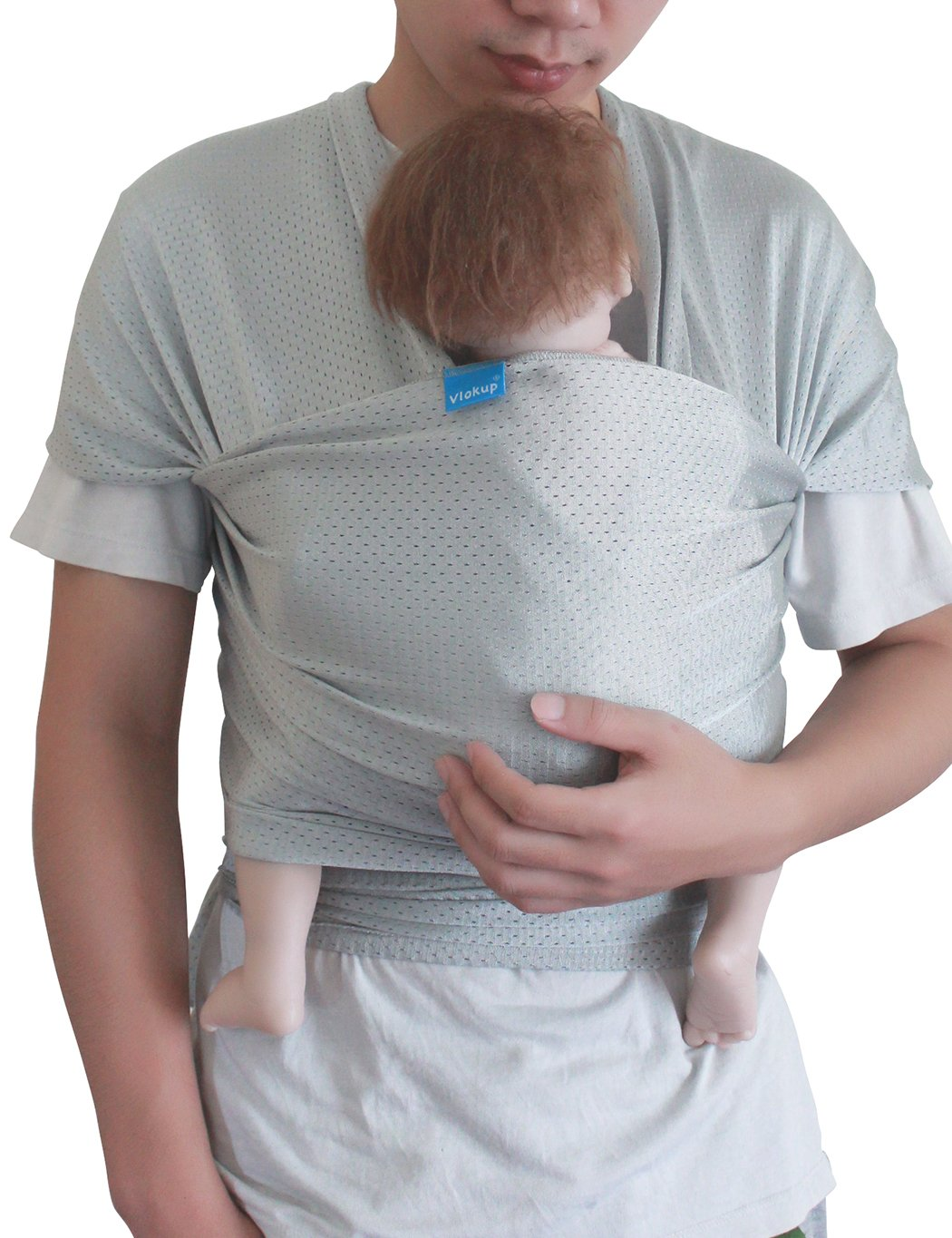 Vlokup Baby Wrap Water Sling Carrier Light Gray