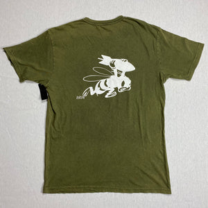 Heir Force Vintage Wash T-Shirt Olive