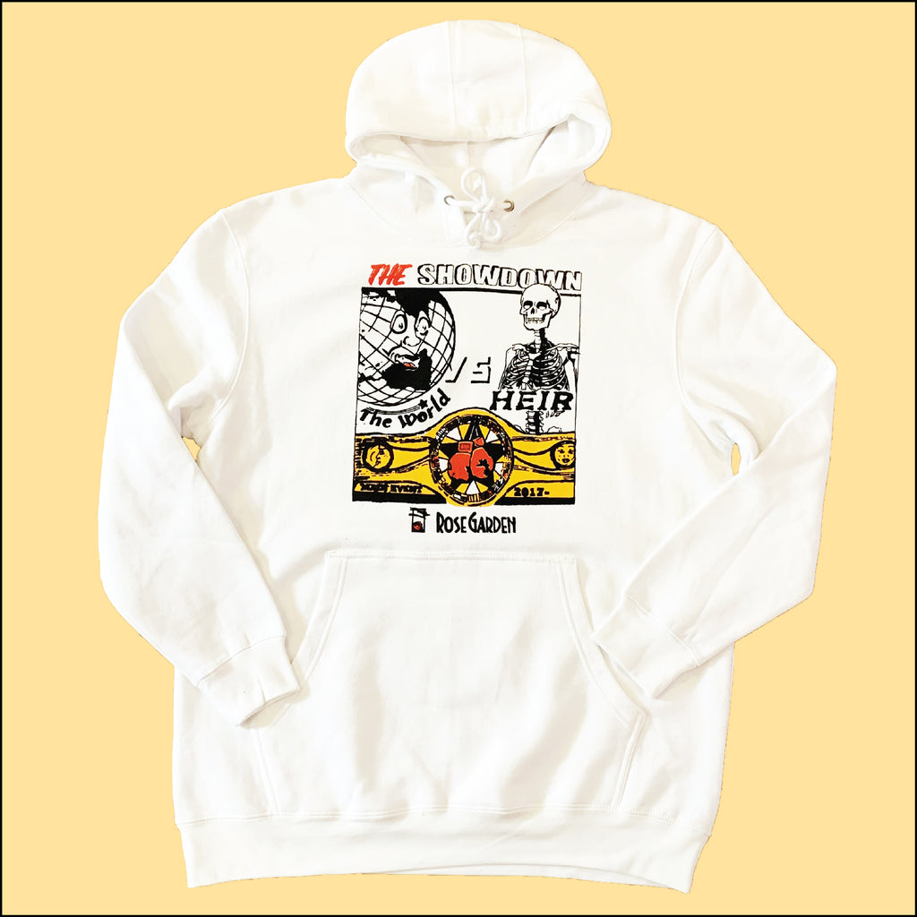 The Showdown Heavyweight Hoodie White
