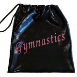 GYMNASTICS or DANCE TEXT DRAWSTRING BAGS - ALL COLOURS