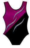 LILY LEOTARD - BERRY & SILVER