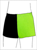 Boys Black Lime Gymnastics Dance Shorts Inspire xo