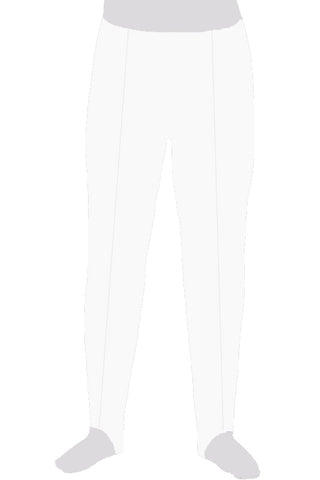 BOYS WHITE STIRRUP PANTS - LONGS