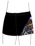 Boys Gymnastics Dance Gym Shorts Black Galactic Inspire xo