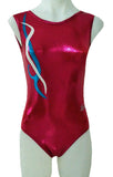 Red Pomegranate Leotard Gymnastics Dance Inspire xo