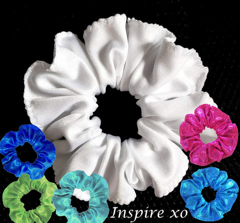 100 HAIR SCRUNCHIES - ALL COLOURS