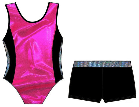 JESSICA LEOTARD & SHORTS SET