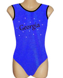 Personalised Personalized Leotard Gymnastics Dance Inspire xo Royal Blue