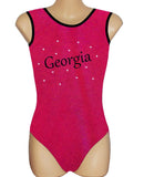 Personalised Personalized Leotard Gymnastics Dance Inspire xo Red