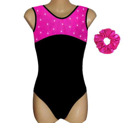 CLASSIC LEOTARD with CRYSTALS - 7 COLOURS