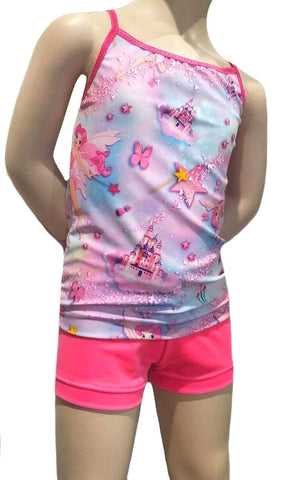 PINK FAIRY SINGLET & SHORTS SET