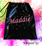 PERSONALISED BAG - PINK GLITTER