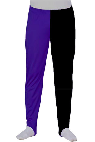 BOYS PANTS - LONGS - PURPLE & BLACK