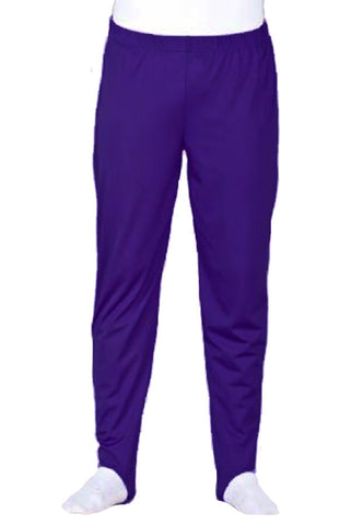 BOYS PURPLE STIRRUP PANTS - LONGS