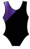 Purple Black Leotard Gymnastics Dance Gym Inspire xo