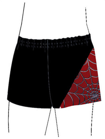 Boys Black Lycra Spidey Gymnastics Dance Shorts Inspire xo