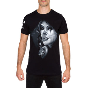 38 Reasons Mens Tattoo Style Black T Shirt by 187 Inc