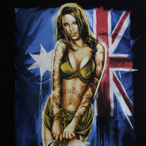 Aussie Girl Mens Black T Shirt by Aggressive Lifestyles