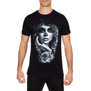 Temptation Mens Black T Shirt by Charlie Medina 187 Inc