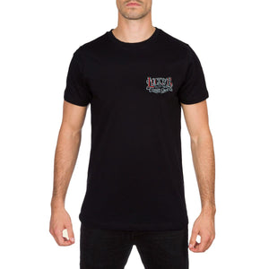 Crimson Ghost Mens Black T Shirt by Lucky 13
