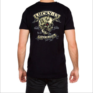 Evil Skull Mens Black T Shirt by Lucky 13