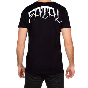Chillin Mens Black T Shirt by Fatal Clothing