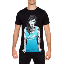 Glasses Mens Black Skater T Shirt by Fatal Clothing