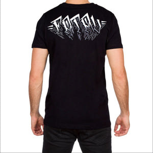 Merrica Mens Black T Shirt by Fatal Clothing