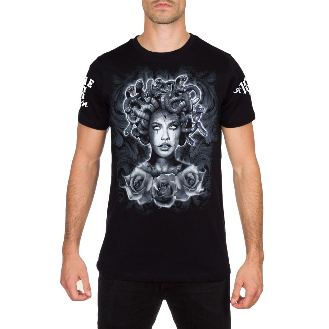 Midevil Mens Medusa T Shirt by 187 Inc