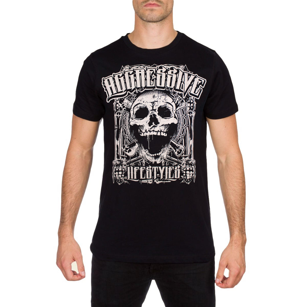 Violence Black T Shirt by Aggressive Lifestyles