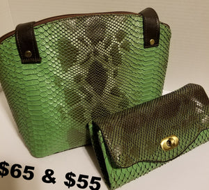 Claire Man-made snake print  45.00 (wallet sold separately)