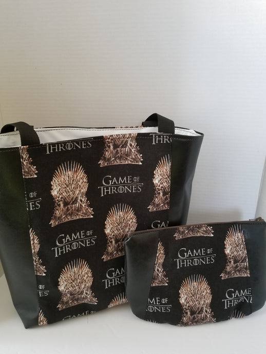 GOT tote and cosmetics bag