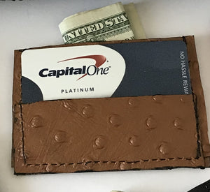 Single fold credit card holder