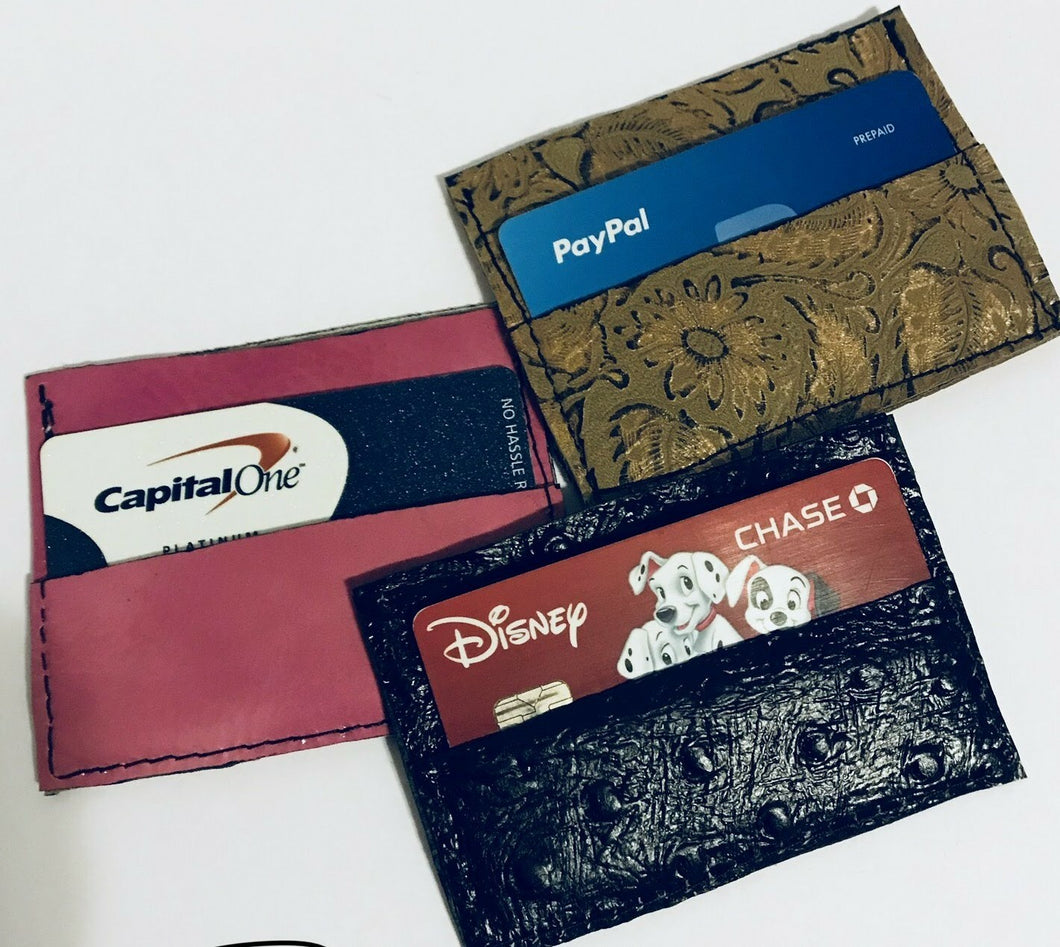 Single fold credit card holder RFID