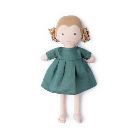 Fern in River Green Linen Dress