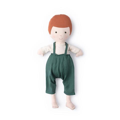 Charlie in River Green Overalls