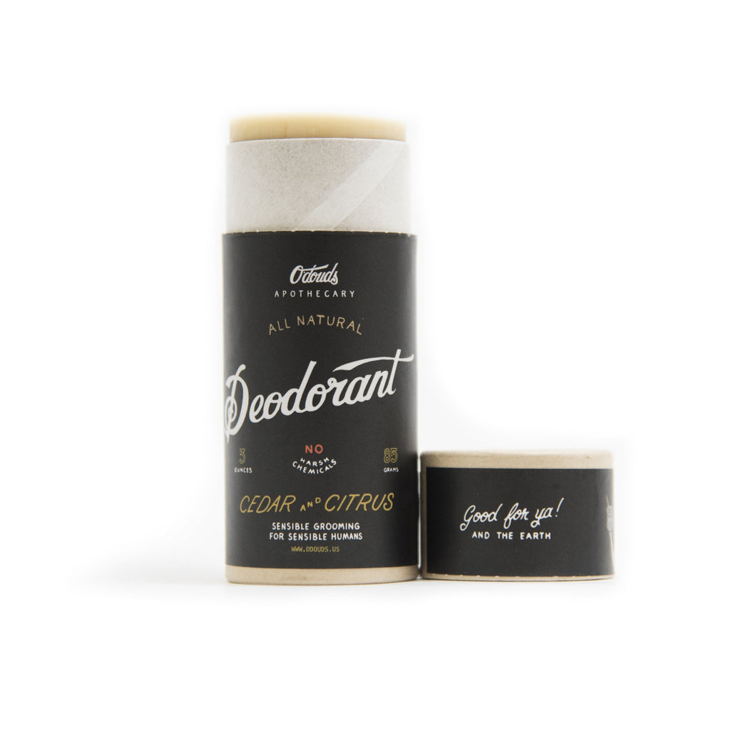 O'Douds Deodorant Cedar and Citrus