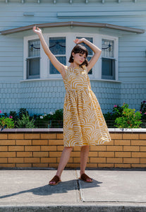 Nancybird Zoe Dress Mustard Eddies RRP$219