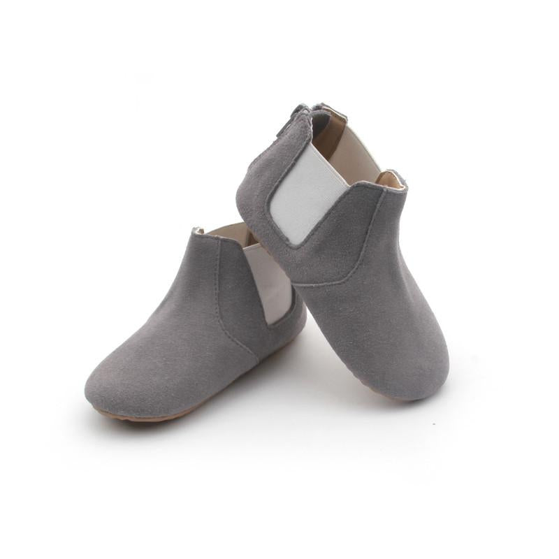 Grey Suede Toddler Boots