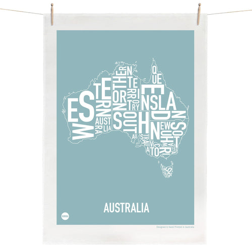 Australia Map Tea Towel