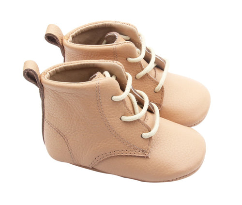 Caramel Lace Up Baby Shoes