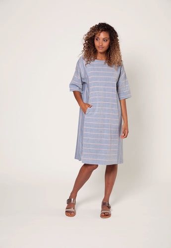 Nancybird Carlisle Dress Wide Stripe RRP$249 (Large)