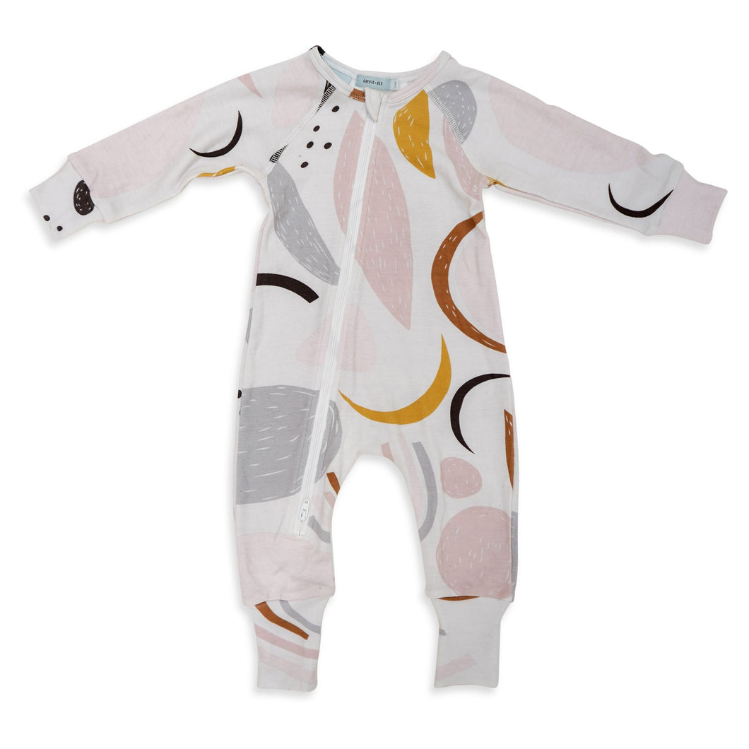 Mona Abstract Print Zipsuit (12-18m)