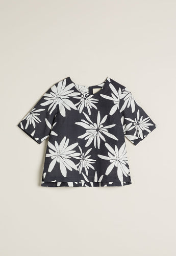 Nancybird River Top Charcoal Yam Daisy RRP$129 (Small)