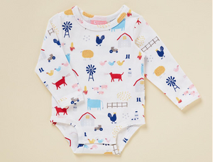 Farm Life Long Sleeve Bodysuit