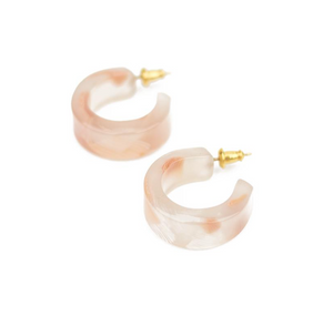 Pome Hoops Pink Shell